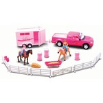 New-Ray Toys Pink Riding Academy Deluxe Set