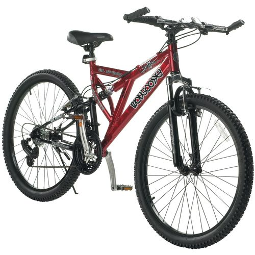 "Mongoose® Men's Domain 26"" 21-Speed Dual-Suspension Bicycle"