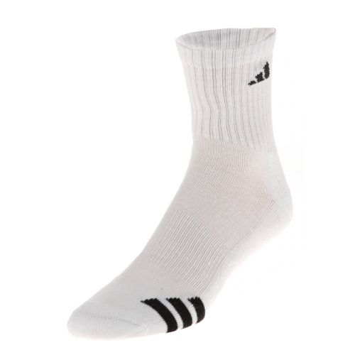 adidas Men's Cushioned 3-Stripe Half Crew Socks 3-Pack