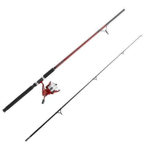 Pinnacle Red Metal 9' Saltwater Bigwater Spinning Rod and Reel Combo