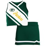 Reebok Girls' Green Bay Packers 2-Piece Cheerleader Set