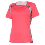 Nike Women's Printed Fast Pace Short Sleeve T-shirt