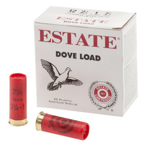 Estate Cartridge Dove Load 12 Gauge 7.5  Shotshells