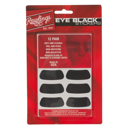 Rawlings Eye Black Stickers 12-Pack