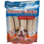 Nature's Choice Knotted Rawhide Retriever Rolls 12-Pack