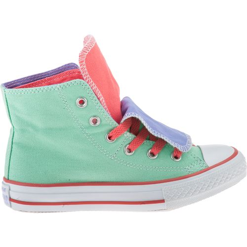 Image for Converse Girls' Chuck Taylor All Star Two-Fold Hi-Top Athletic Lifestyle Shoes from Academy
