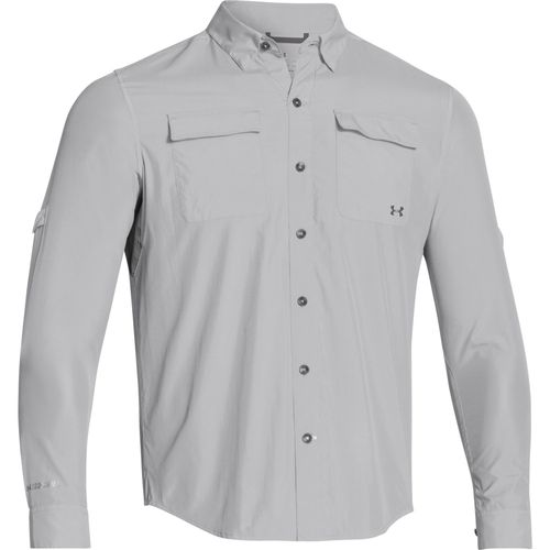 Image for under armour men 39 s iso chill flats guide long for Under armor fishing shirt