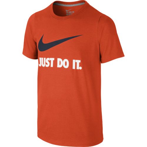 Display product reviews for Nike Boys' Just Do It Swoosh T-shirt