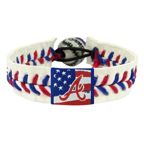 GameWear Adults' Atlanta Braves Stars and Stripes Baseball Bracelet