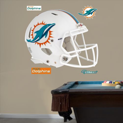 Fathead Miami Dolphins Helmet and Team Decals 5-Pack - view number 1