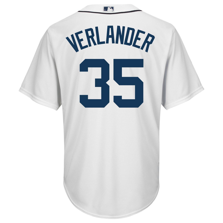 Majestic Men's Detroit Tigers Justin Verlander #35 Cool Base Replica Jersey