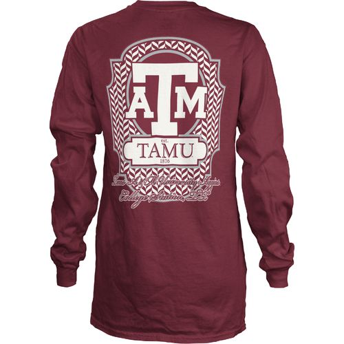 Three Squared Women's Texas A&M University Lattice T-shirt