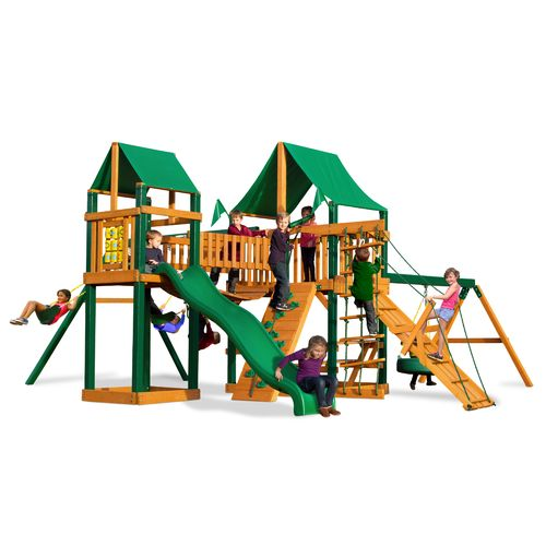 Gorilla Playsets™ Pioneer Peak Swing Set with Timber