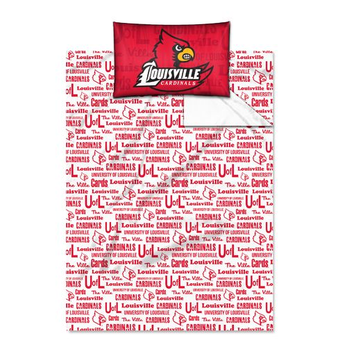 The Northwest Company University of Louisville Anthem Twin Sheet Set