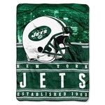 The Northwest Company New York Jets Stacked Silk Touch Throw