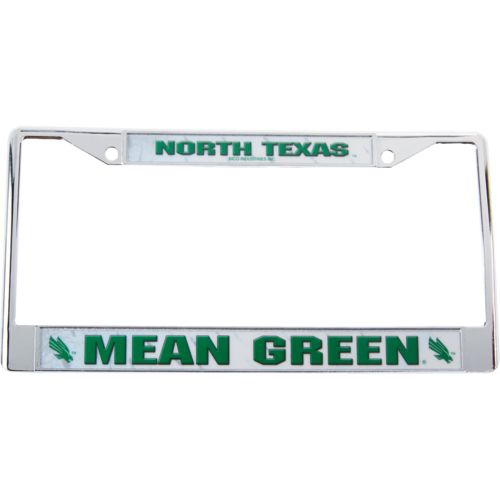 Rico University of North Texas Chrome License Plate Frame