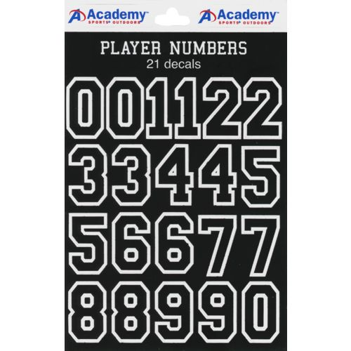 Display product reviews for Academy Sports + Outdoors Number Decals 20-Pack