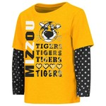 Colosseum Athletics Toddler Girls' University of Missouri Super Cool Layered T-shirt