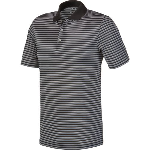 adidas Men's 3 Color Striped Polo Shirt