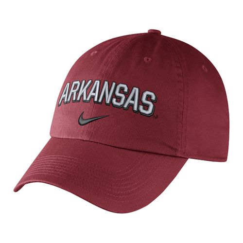 Nike Men's University of Arkansas Heritage86 Wordmark Swoosh Flex Cap