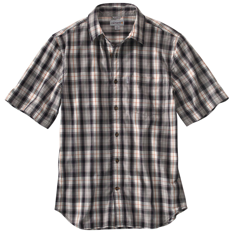 Carhartt Men's Essential Plaid Open Collar Short Sleeve