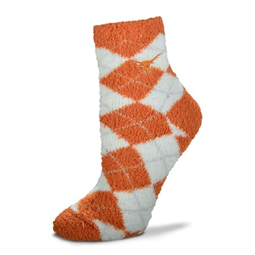 For Bare Feet Women's University of Texas Originals Sleepsoft Quarter-Length Argyle Socks