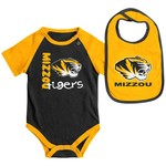 Colosseum Athletics Infants' University of Missouri Rookie Onesie and Bib Set