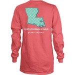 Three Squared Juniors' University of Louisiana at Lafayette Octagon Mascot T-shirt