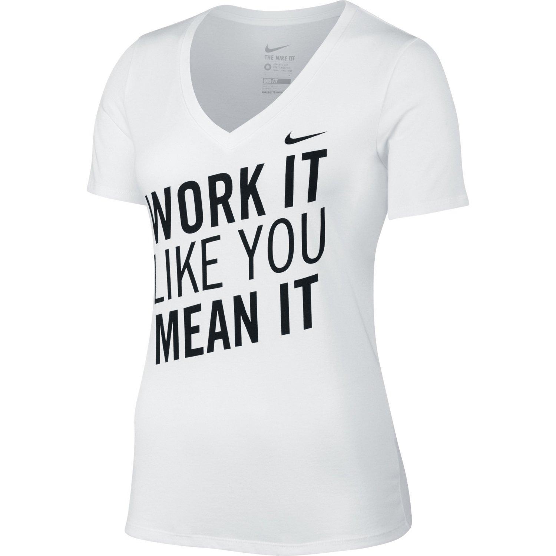 Nike Women's Work It Dri-FIT V-neck T-shirt