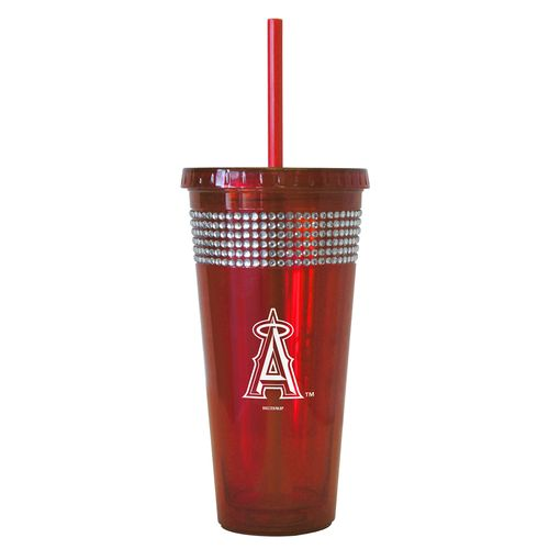Boelter Brands Los Angeles Angels of Anaheim 22 oz. Bling Straw Tumblers 2-Pack