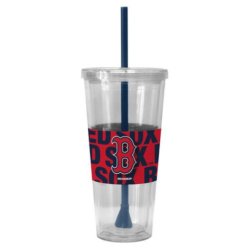 Boelter Brands Boston Red Sox Bold Neo Sleeve 22 oz. Straw Tumblers 2-Pack