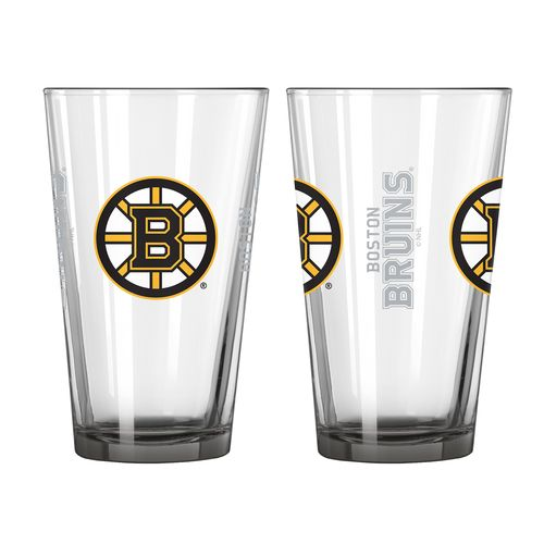 Boelter Brands Boston Bruins Elite 16 oz. Pint Glasses 2-Pack