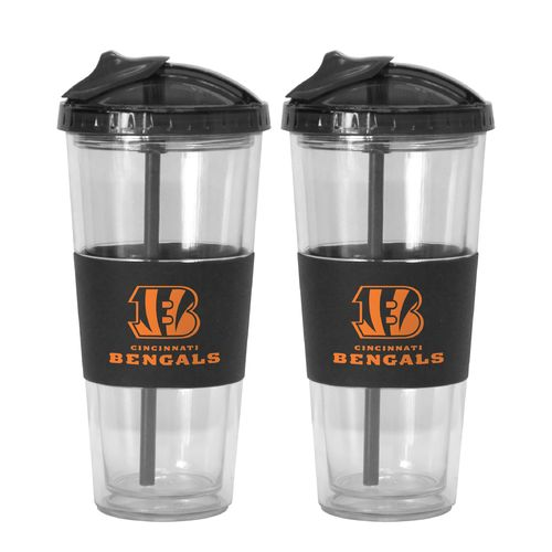 Boelter Brands Cincinnati Bengals 22 oz. No-Spill Straw Tumblers 2-Pack