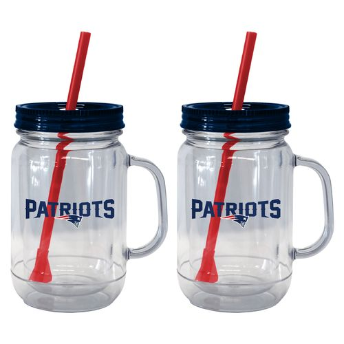 Boelter Brands New England Patriots 20 oz. Handled Straw Tumblers 2-Pack