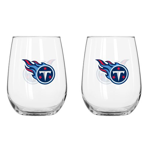 Boelter Brands Tennessee Titans 16 oz. Curved Beverage Glasses 2-Pack