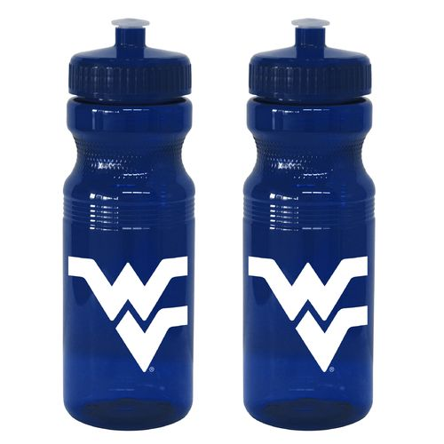 Boelter Brands West Virginia University 24 oz. Squeeze Water Bottles 2-Pack