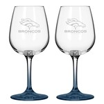 Boelter Brands Denver Broncos 12 oz. Wine Glasses 2-Pack