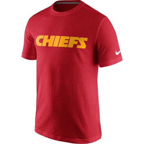 Nike Men's Kansas City Chiefs Cotton Essential Wordmark T-shirt