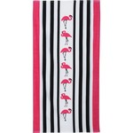 O'Rageous® Flamingo Stripe Beach Towel