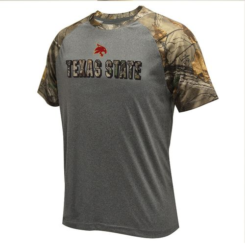 Colosseum Athletics Men's Texas State University Realtree Switch Short Sleeve T-shirt
