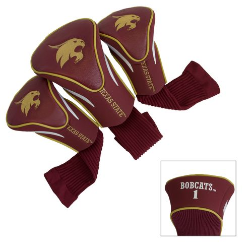 Team Golf Texas State University Contour Sock Head Covers 3-Pack