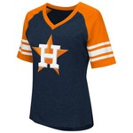 G-III for Her Women's Houston Astros G34Her Carve Up V-neck T-shirt