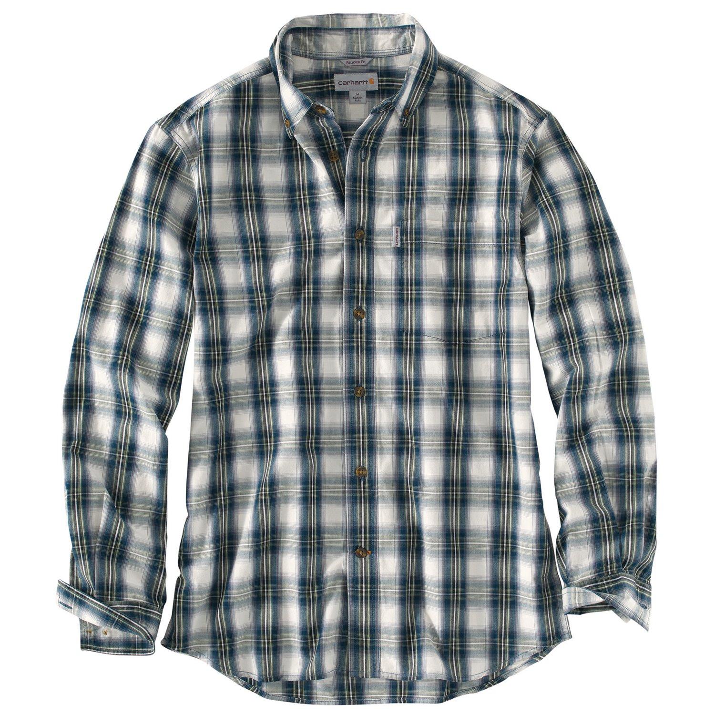 Carhartt Men's Essential Plaid Button-Down Long Sleeve Shirt