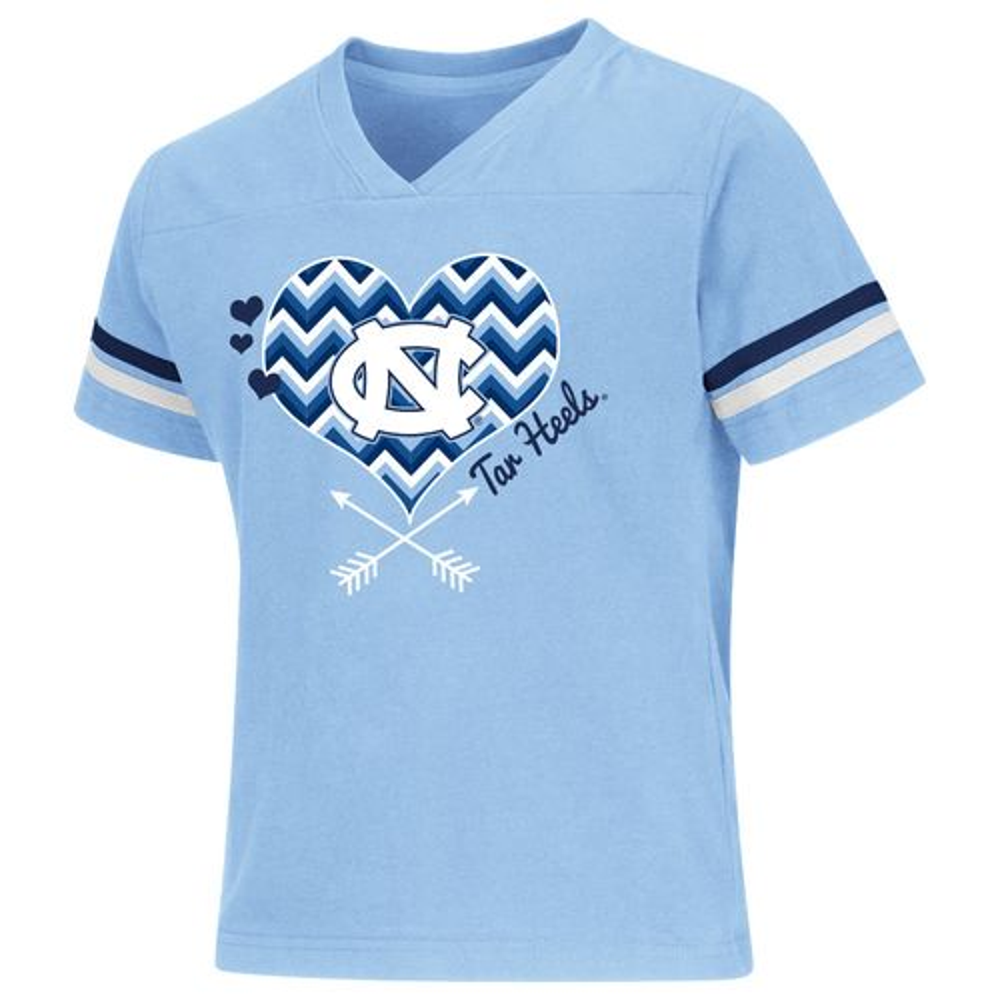 Colosseum Athletics Girls' University of North Carolina Football Fan T-shirt
