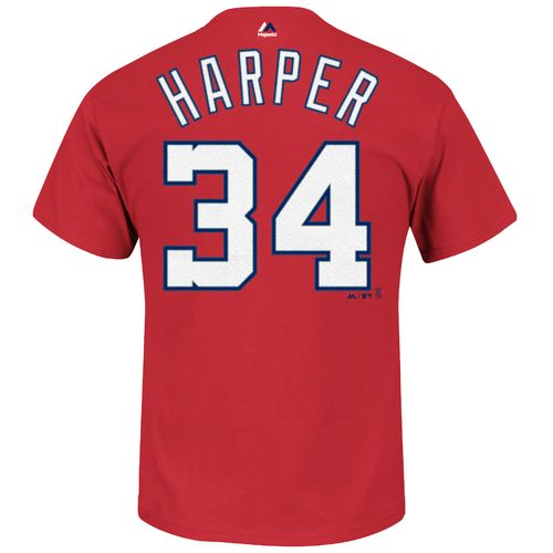 Majestic Men's Washington Nationals Bryce Harper #34 T-shirt