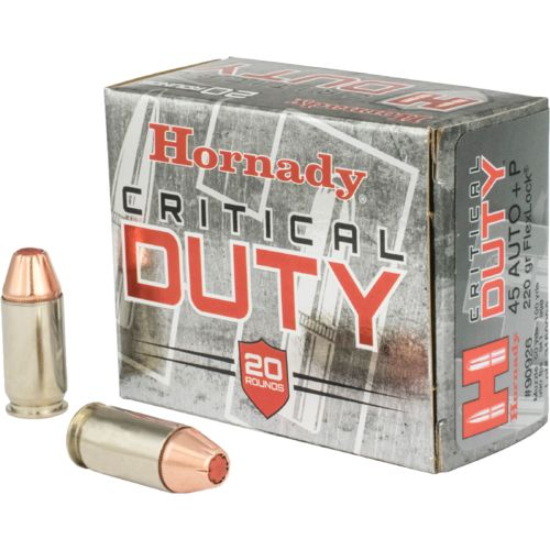 Display product reviews for Hornady Critical Duty® FlexLock® .45 Auto +P 220-Grain Handgun Ammunition