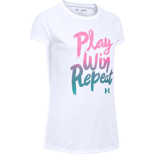Under Armour® Girls' Play Win Repeat T-shirt