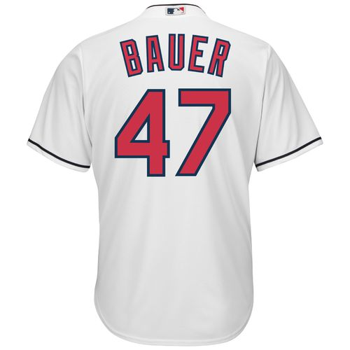 Majestic Men's Cleveland Indians Trevor Bauer #47 Cool Base Replica Jersey