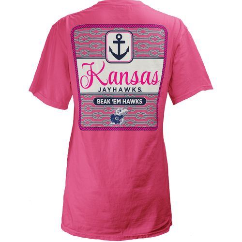 Three Squared Juniors' University of Kansas Knotty Tide T-shirt