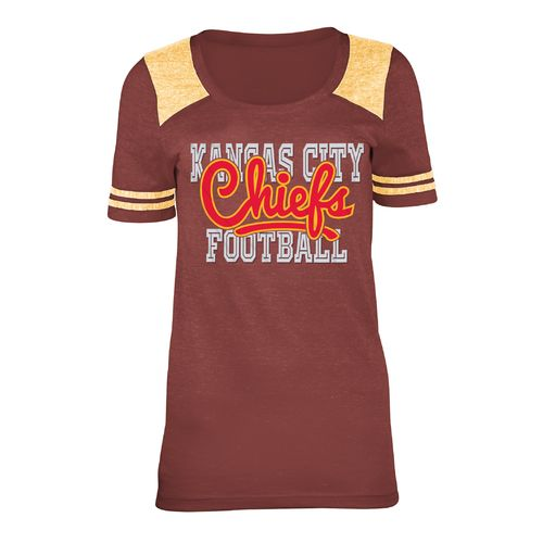 5th & Ocean Clothing Juniors' Kansas City Chiefs Script Fan T-shirt